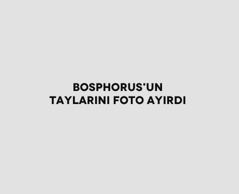 Bosphorus'un Taylarını Foto Ayırdı